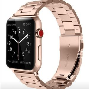 Apple Watch 4 44mm Stainless Steel Band Rose Gold
